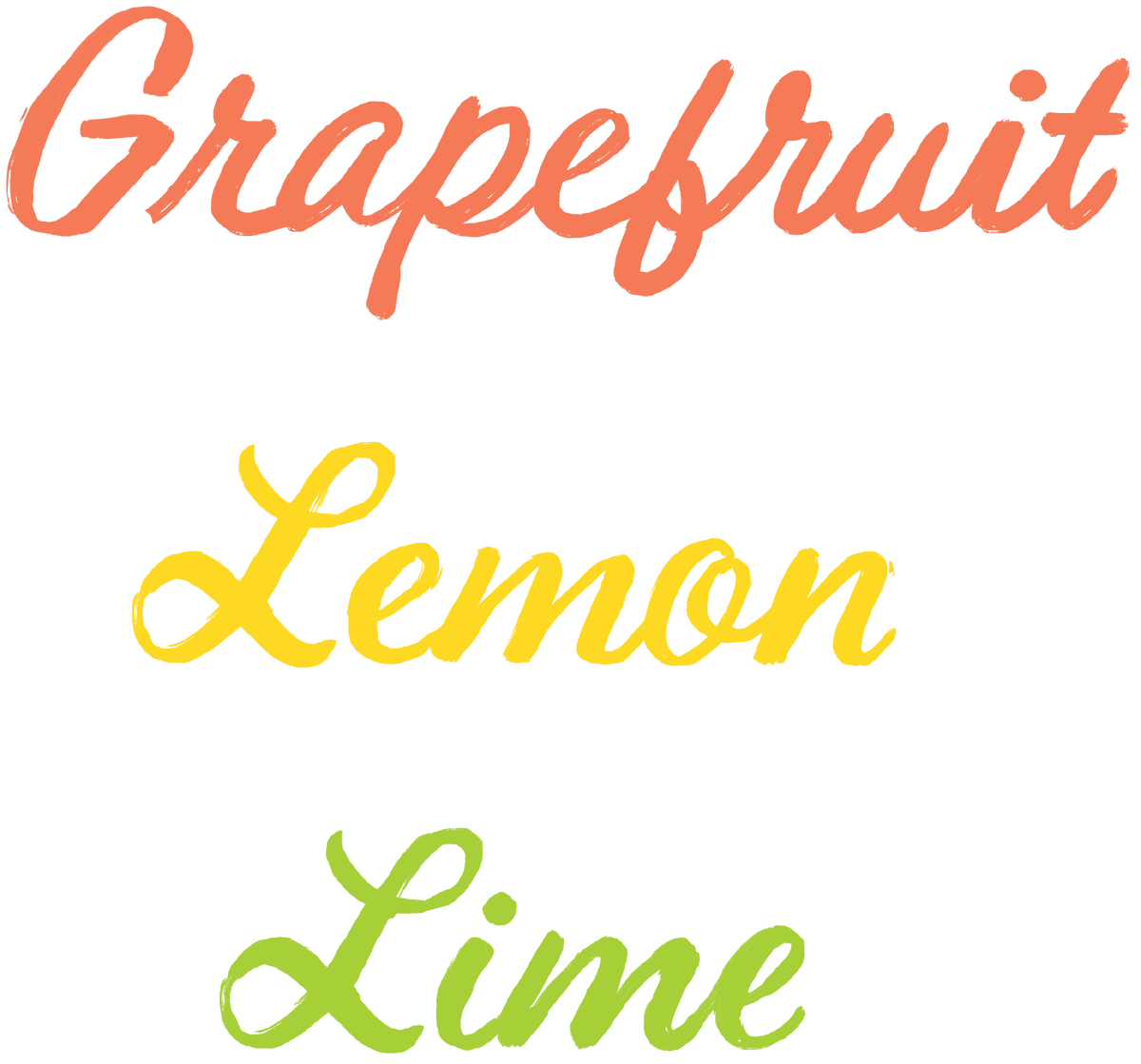 Grapefruit, Lemon, Lime